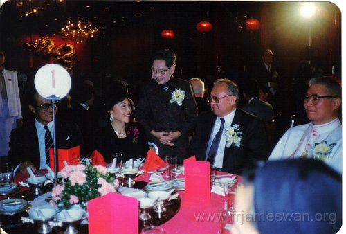 1988 Dec 6 100th Anniversary of HK Cathedral - Dinner - 2