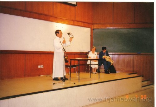 1990 Aug 7  Talk of Dr Wong Ma Ching  Kai