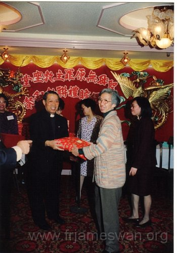 1990 Dec 8 Feast Day of HK Immaculate of Conception of Cathdreal - Dinner - 27