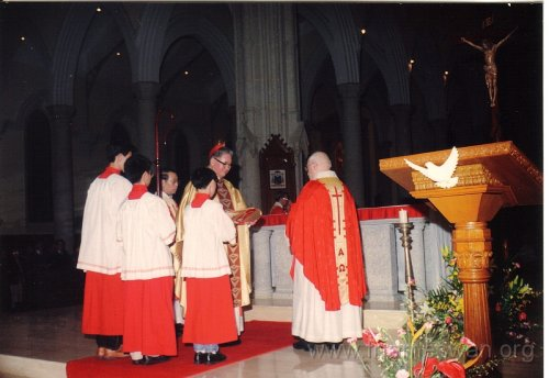 1990 Dec 8 Feast Day of HK Immaculate of Conception of Cathdreal -  Dinner - 2