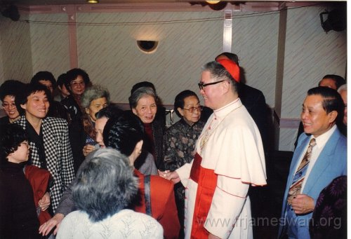 1990 Dec 8 Feast Day of HK Immaculate of Conception of Cathdreal -  Dinner -  7