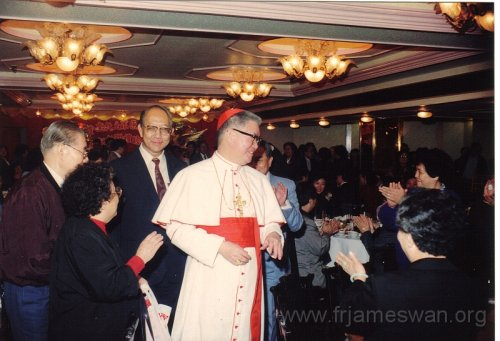 1990 Dec 8 Feast Day of HK Immaculate of Conception of Cathdreal -  Dinner -  9